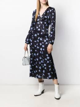 Semicouture - платье миди с цветочным принтом S5695589606000000000