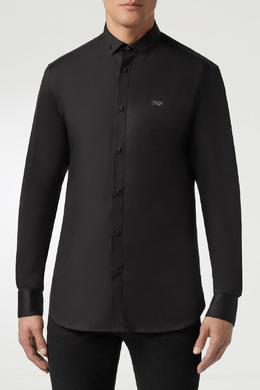 Черная рубашка с отделкой черепами Philipp Plein 1795159845