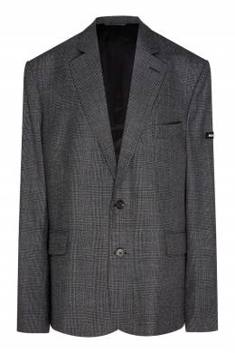 Темно-серый клетчатый пиджак Balenciaga 397157811