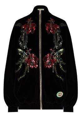 Толстовка на молнии с пайетками Gucci 470160191