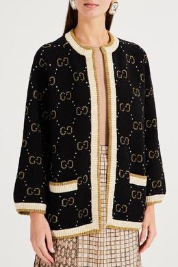 Вязаный кардиган с подкладкой Gucci 470160193