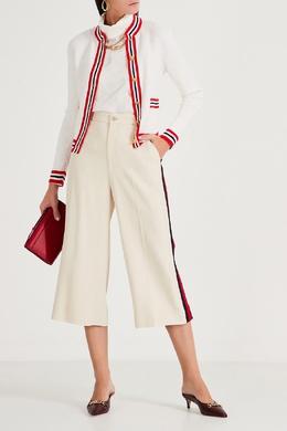 Белый кардиган с фактурным узором Gucci 470160197
