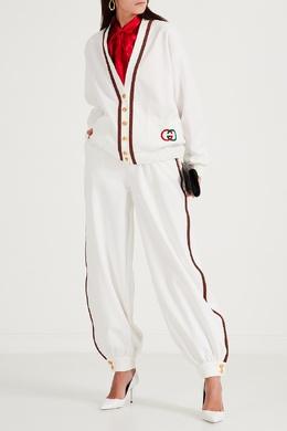 Белый кардиган с плетеной отделкой Gucci 470160202