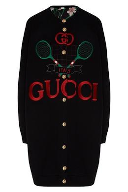 Длинный кардиган с вышивкой Gucci 470160199