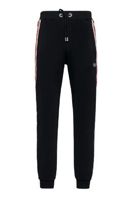 Черные спортивные брюки с цветными лампасами Philipp Plein 1795159784