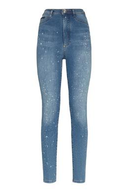 Голубые джинсы с белым рисунком Philipp Plein 1795159583