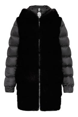 Черная комбинированная куртка Philipp Plein 1795159584