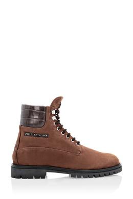 Коричневые замшевые ботинки со вставкой Philipp Plein 1795159863