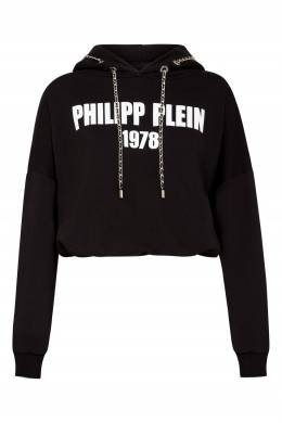 Черная толстовка с белой надписью Philipp Plein 1795159638