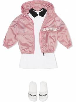 Burberry Kids - куртка с капюшоном и логотипом 96559539683900000000