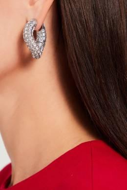 Серьги с кристаллами Loop Balenciaga 397159964