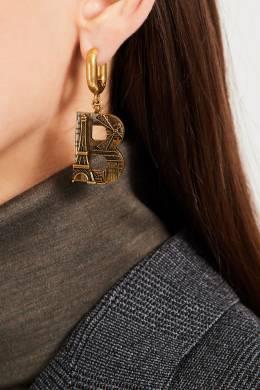 Золотистые серьги Paris Balenciaga 397159961