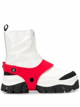 MSGM - ботинки с контрастным ремешком 0MDS5983969395905500
