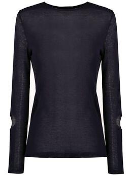 Gloria Coelho трикотажная блузка с длинными рукавами V20N009