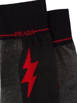 Prada - прозрачные носки с графичным логотипом 56S9909VAR9566909600
