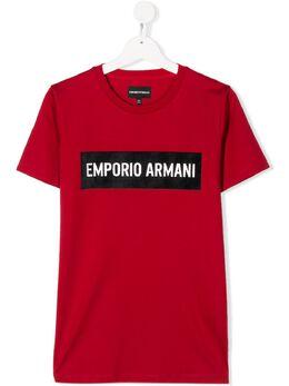 Emporio Armani Kids - футболка с короткими рукавами и логотипом TE95JFGZ955868650000