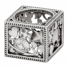 Vivienne Westwood Silver Aaron Square Ring 192314M14701105GB