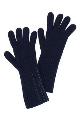 Темно-синие удлиненные перчатки Fabiana Filippi 2658160488