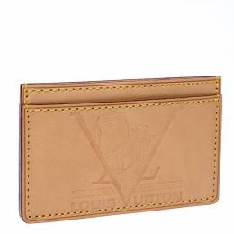Louis Vuitton Beige Leather New Article-Free Card Holder 236640