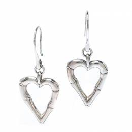 Gucci Bamboo Heart Silver Hook Earrings 236193