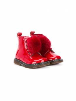 Monnalisa ботинки с помпоном 834005M4700