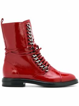 Casadei - flat lace-up boots 58L6069Y535936556030