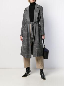 Liska - plaid belted coat 69559969900000000000