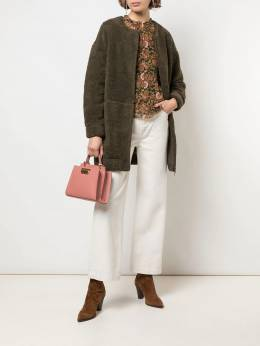 Apiece Apart - collarless faux-shearling coat 09FXF955936330000000