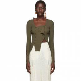 Jacquemus Khaki La Maille Azur Pullover 192553F10001203GB