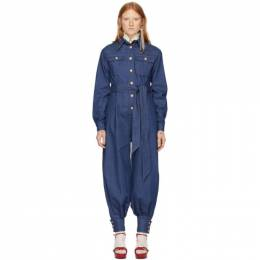 Gucci Blue Denim Belted Jumpsuit 192451F07000405GB