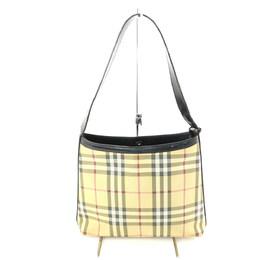 Burberry Beige Canvas Leather House Check Shoulder Bag 237601