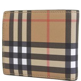 Burberry Beige Leather Folded Wallet 237607