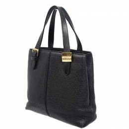 Burberry Black Leather Tote Bag 237617