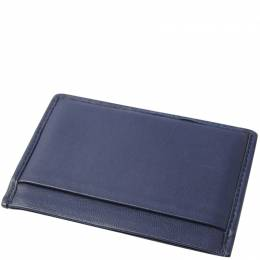 Miu Miu Blue Matelasse Leather Card Case 236775