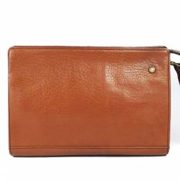 Burberry Brown Leather Clutch Bag 237621