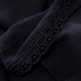 Dolce&Gabbana Black Silk Georgette Lace Edged Scarf 150476