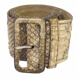 Prada Beige Python Waist Belt 85CM 95250
