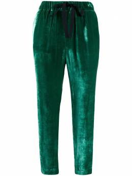 Semicouture - cropped elasticated trousers L6395695955000000000