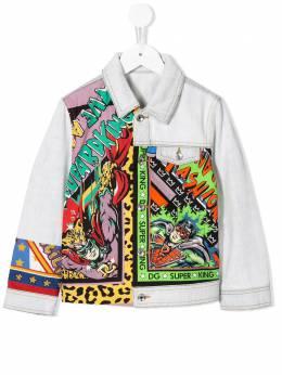 Dolce & Gabbana Kids - superhero print denim jacket B86G3SQG956839960000