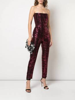 Michelle Mason - sequined strapless jumpsuit 85956663560000000000