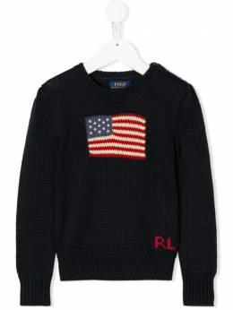 Ralph Lauren Kids - American flag intarsia jumper 66866995530033000000
