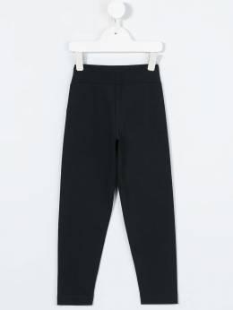 Moncler Kids - спортивные брюки с вышитым логотипом 05658396A99995839000