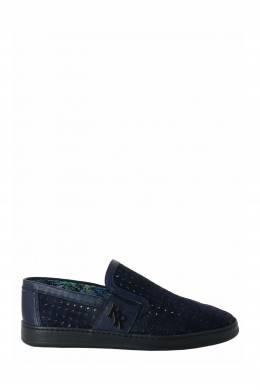 Темно-синие слипоны с перфорацией Roberto Rossi 2995160762