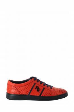Оранжевые перфорированные кеды из кожи Roberto Rossi 2995160761