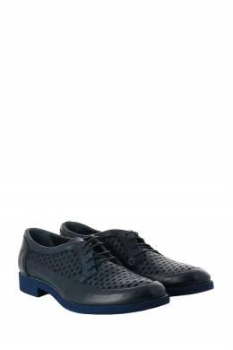 Темно-синие кожаные дерби с перфорацией Roberto Rossi 2995160774