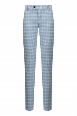 Голубые брюки в клетку Strellson 585160839