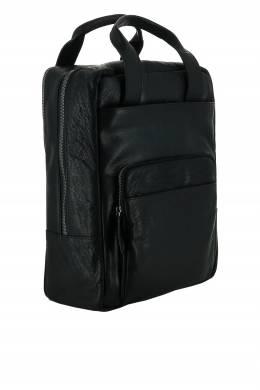 Черный рюкзак с короткими ручками Strellson 585160806