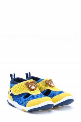 Разноцветные сетчатые кроссовки на липучке Miki House 3018160159