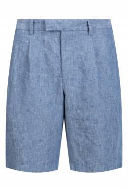 Голубые льняные шорты Strellson 585160850