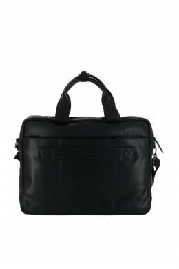 Черная кожаная сумка с двумя ручками Strellson 585160807